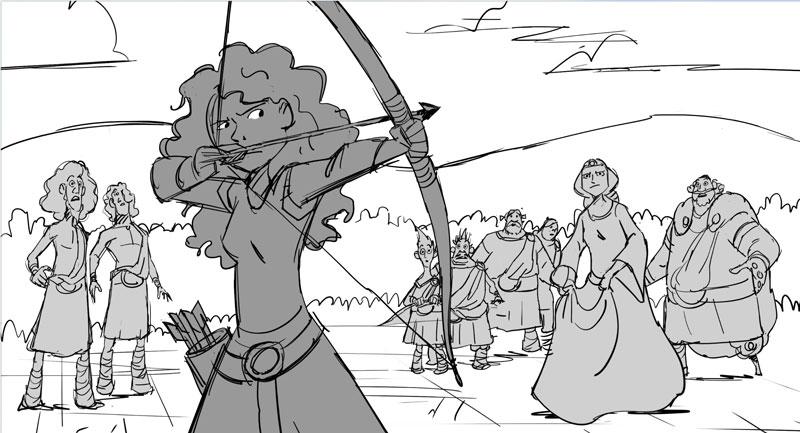 Brave storyboard