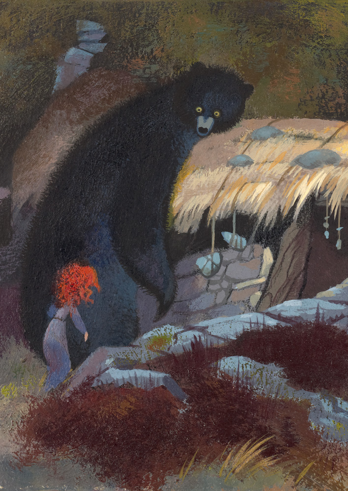 Concept Art: Merida and Mum Bear