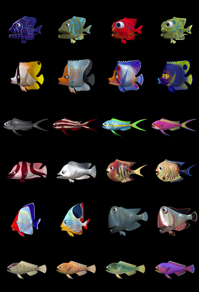 Story and art the science behind pixar for Finding nemo fish
