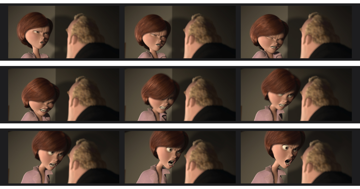 Pixar animators bring a story to life, posing characters to act out each scene, one frame at a time.